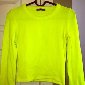 Zara neon sweater